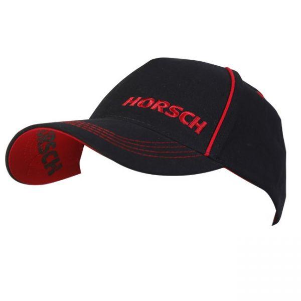 Cap schwarz/rot