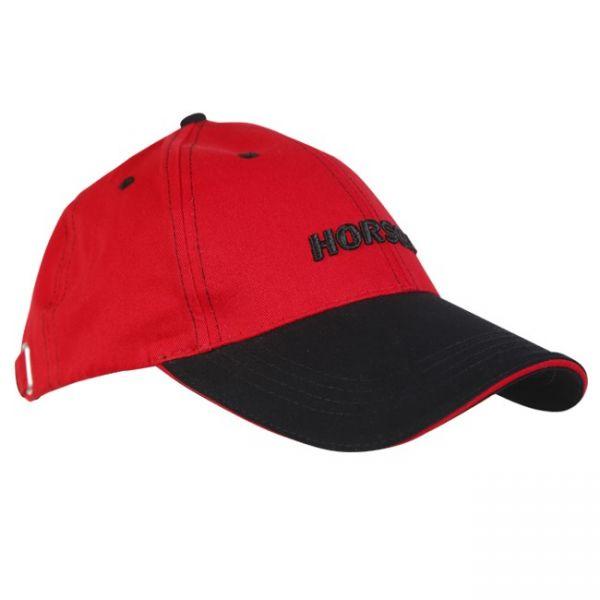 Cap rot mit schwarzem Schild