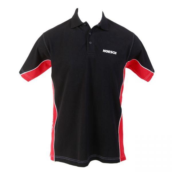 Poloshirt Pikee schwarz-rot
